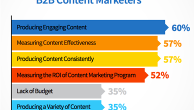 Challenges for B2B Content Marketers