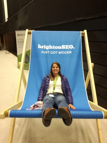 BrightonSEO on stage
