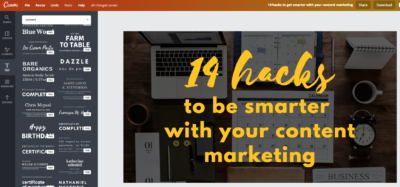 14 hacks to be smarter with your content marketing —Canva