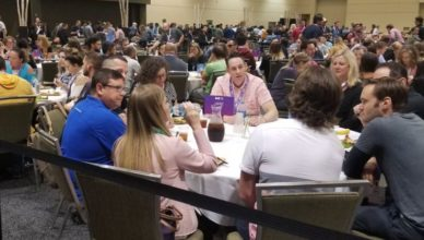 MozCon 2018 lunch tables
