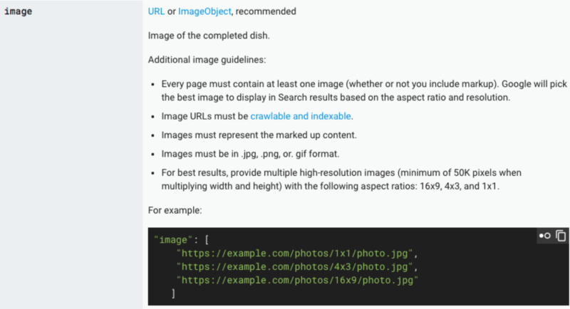 image object structured data guidelines