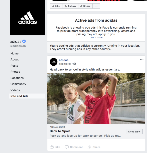 Using Facebook Info and Ads