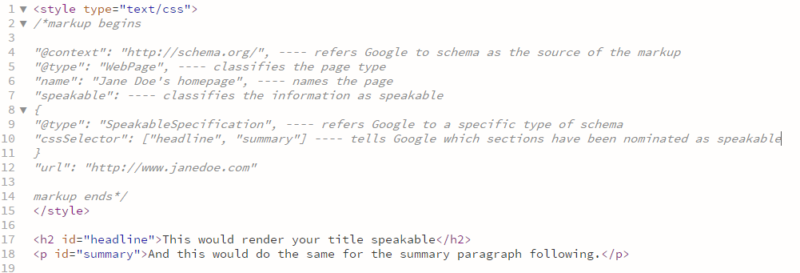 speakable-markup