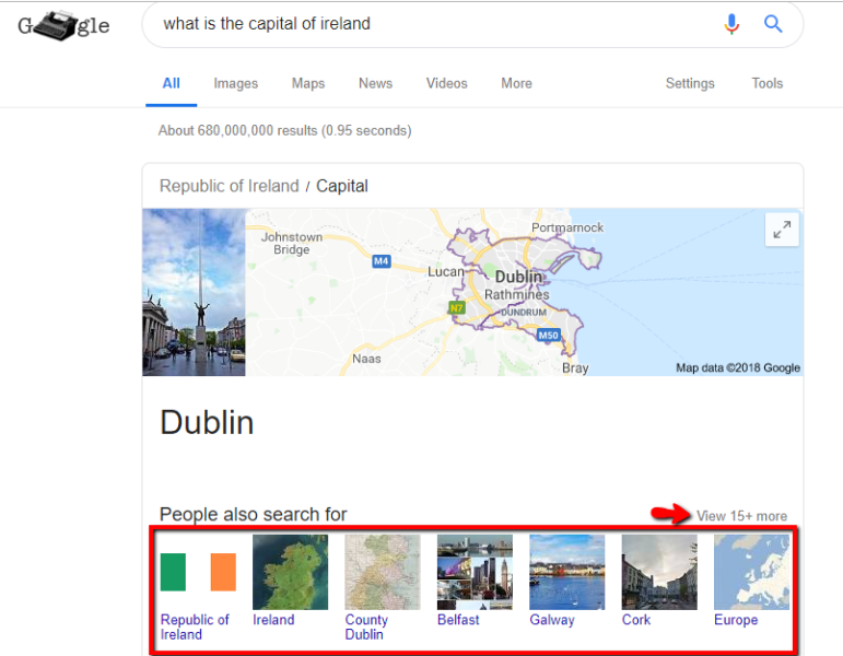 What is the capital of Ireland Google Search