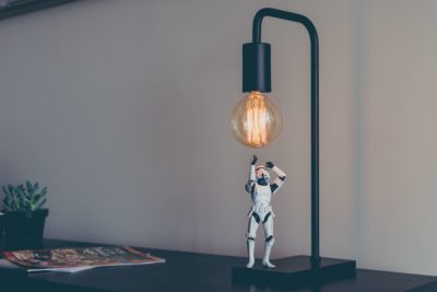 stormtrooper with lightbulb