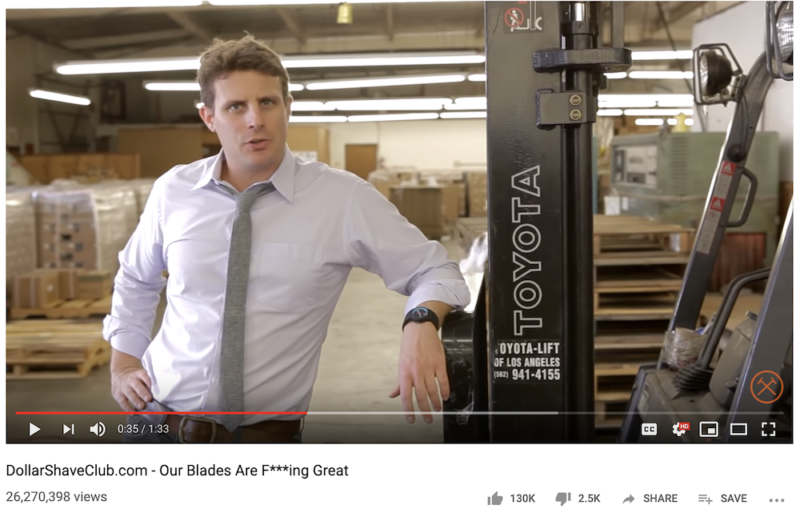 Dollar Shave Club video