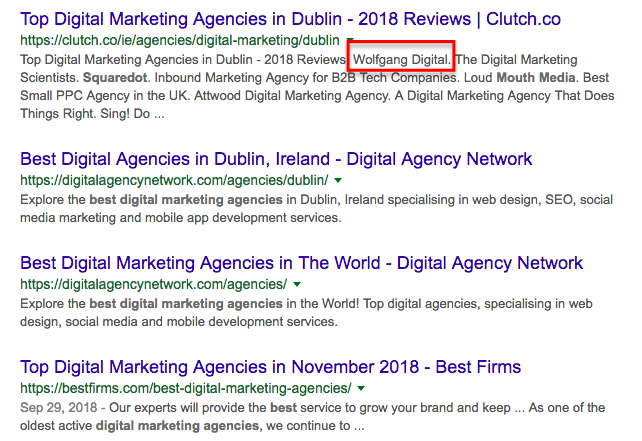 Best Digital marketing agency in Dublin Google Search