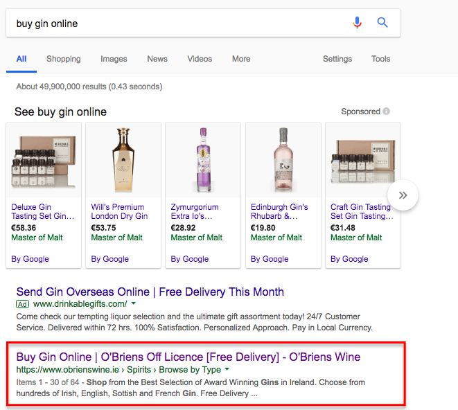 Buy gin online google search