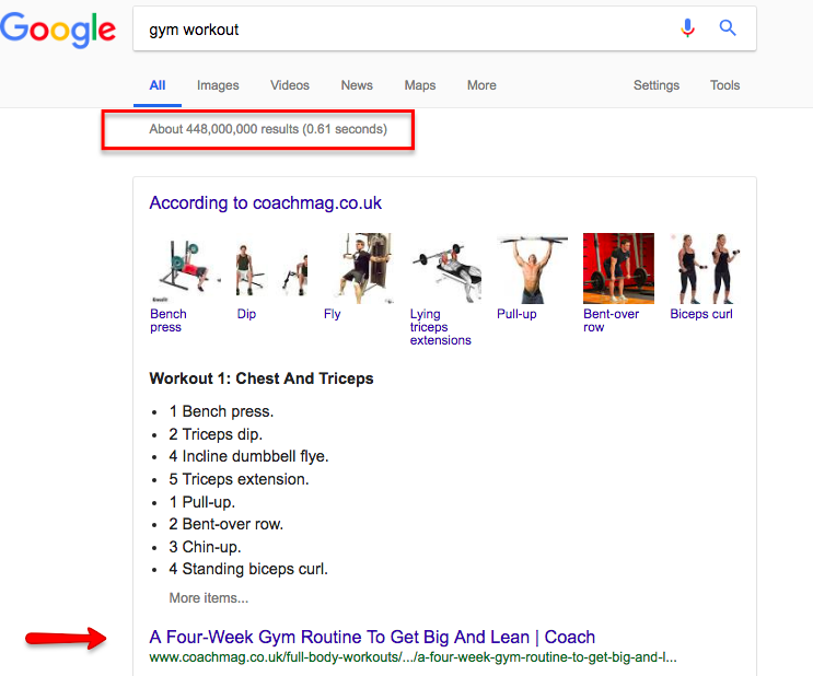 Gym workout google search