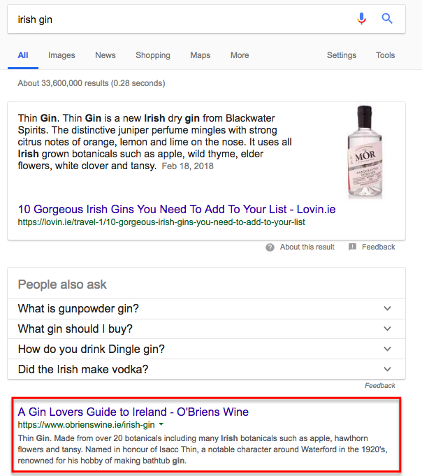 Irish Gin Google Search