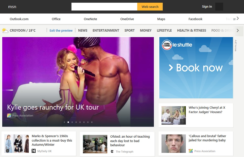 The New and Improved MSN Homepage | State of Digital