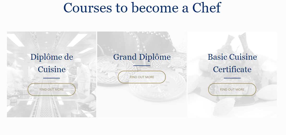 courses to become a chef le cordon bleu london