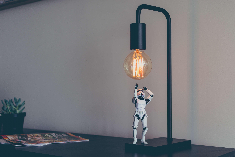 stormtrooper with lightbulb