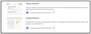 Search & display network search ads