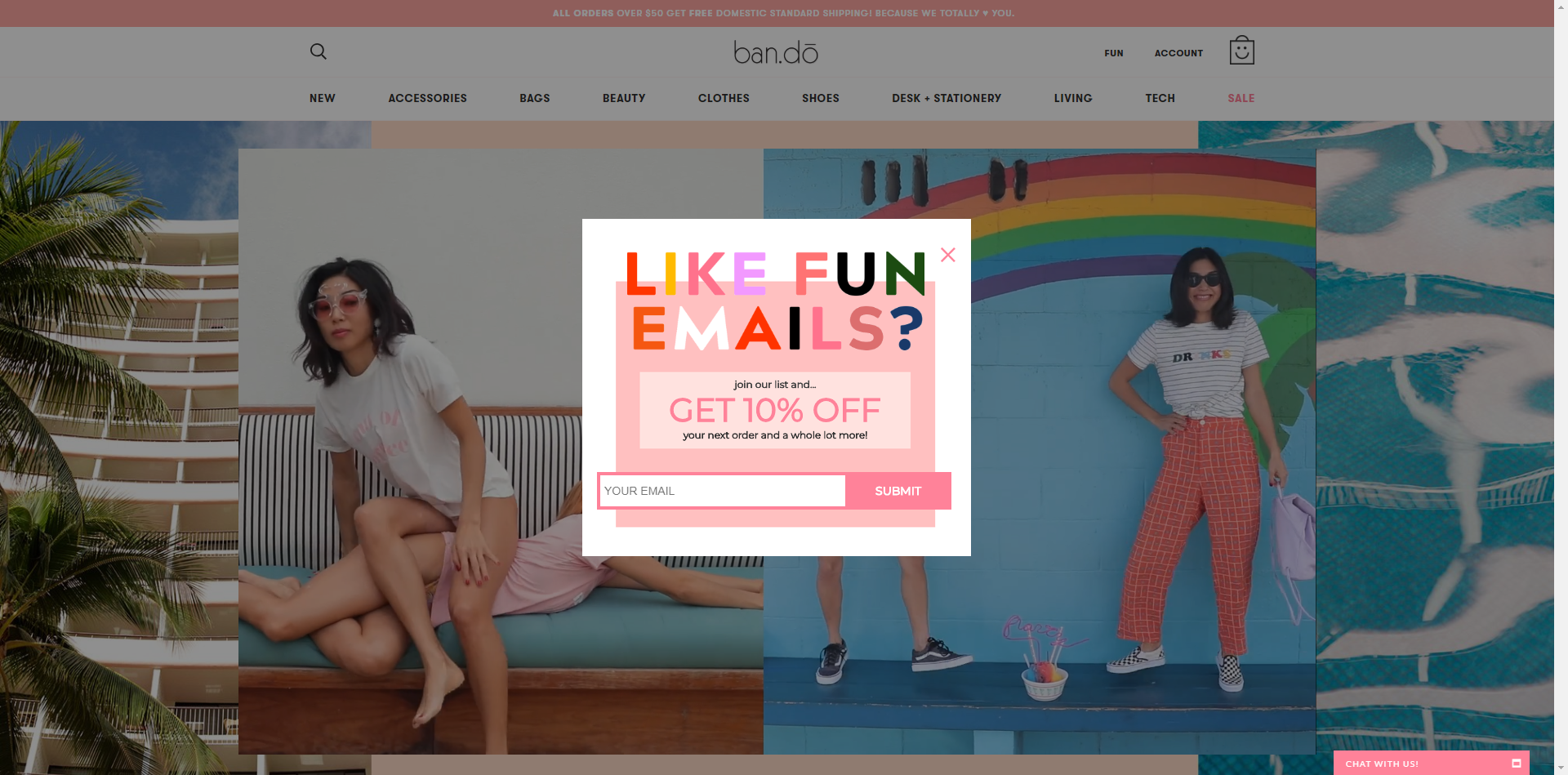 Opt in Bando example