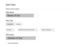 Referral spam filter in Google Analytics