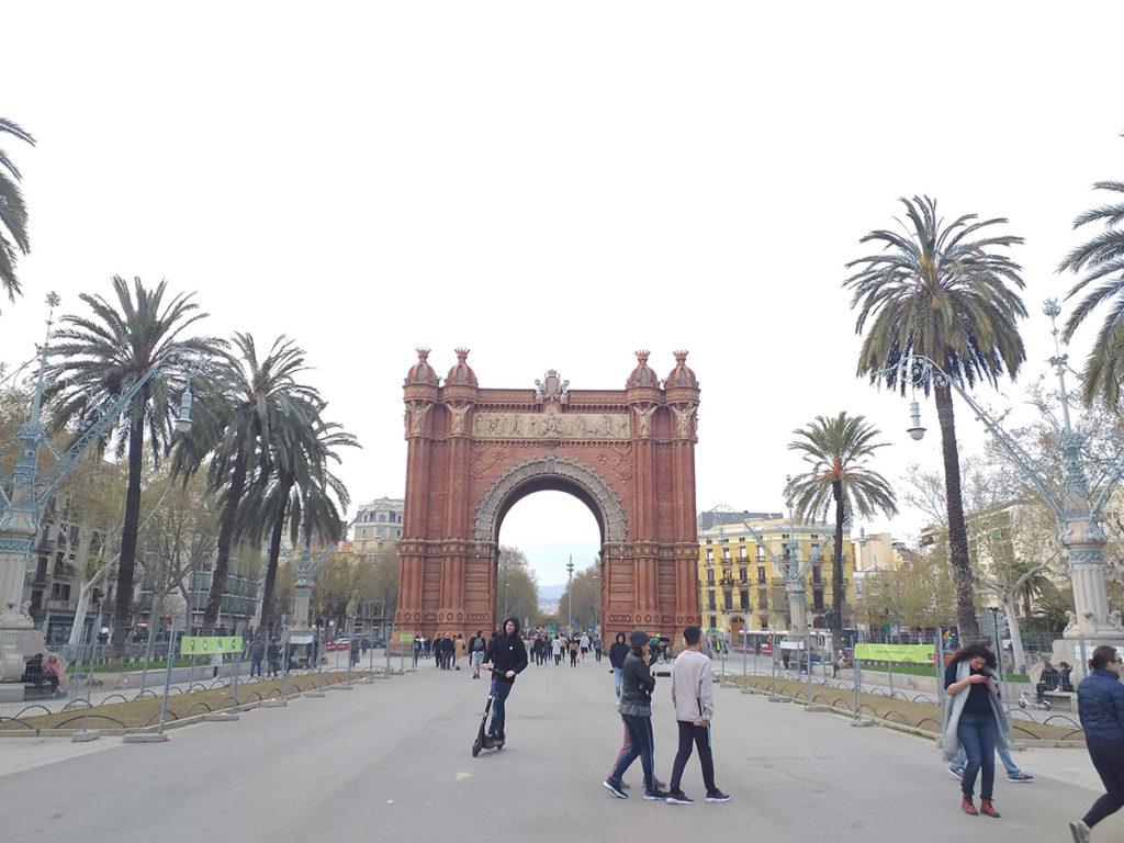 Barcelona in lock down