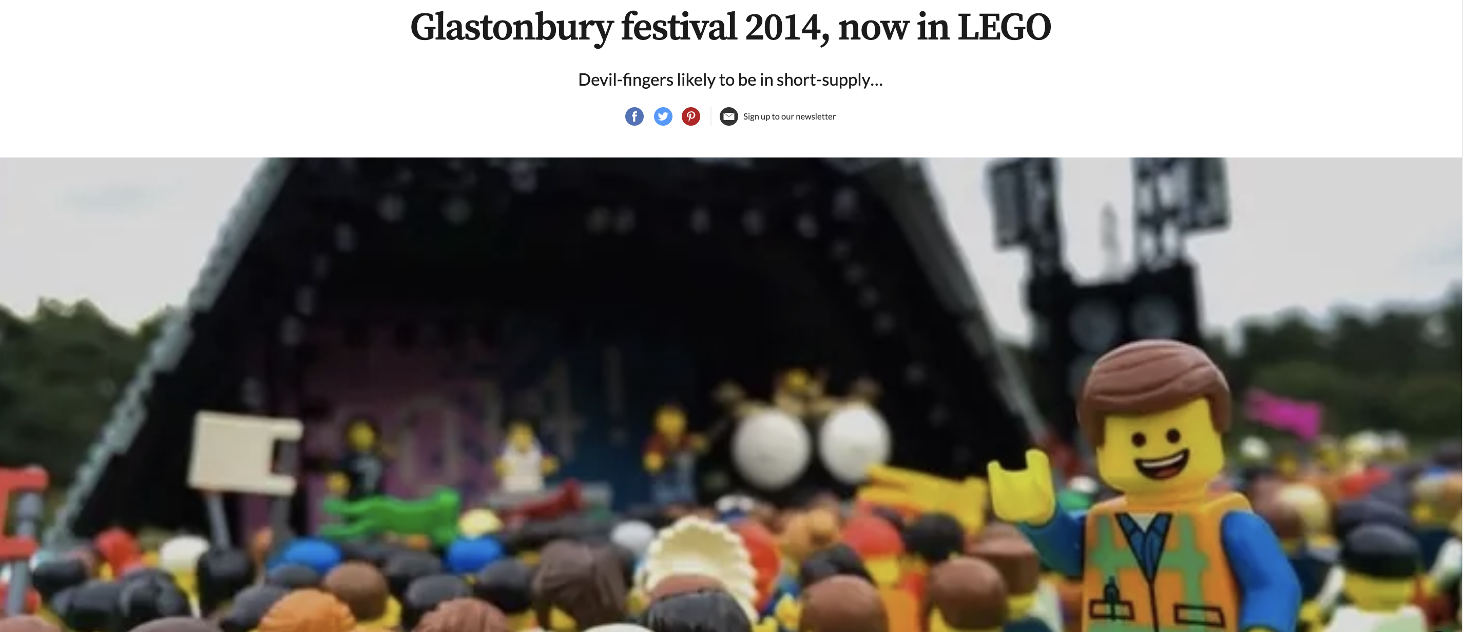 Lego Glastonbury Digital PR